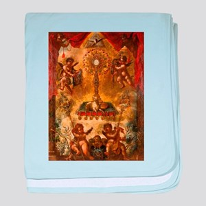 Allegory of the Eucharist baby blanket