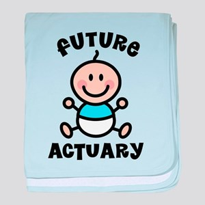 Future Actuary baby blanket