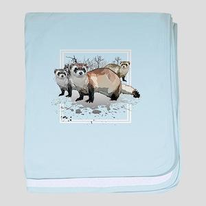 Ferrets baby blanket
