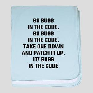 99 Bugs In The Code baby blanket