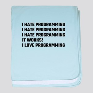 I Love Programming baby blanket