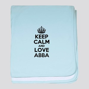 Keep Calm and Love ABBA baby blanket