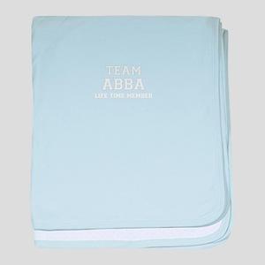Team ABBA, life time member baby blanket