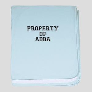 Property of ABBA baby blanket
