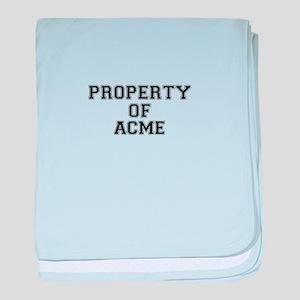 Property of ACME baby blanket