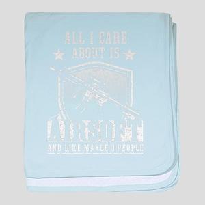 Airsoft care army veteran american sh baby blanket