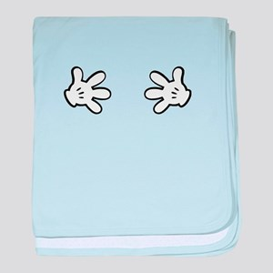 Mickey hands baby blanket