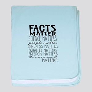 Facts Matter baby blanket