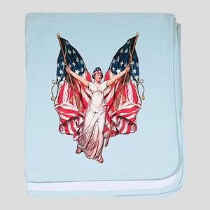 Vintage American Flag Art Infant Blanket