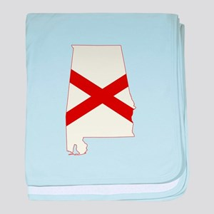 Alabama Flag baby blanket