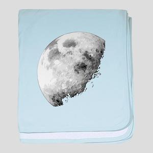 Eclipsing Moon baby blanket