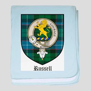 Russell Clan Crest Tartan baby blanket