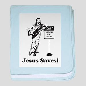 Jesus Saves! baby blanket
