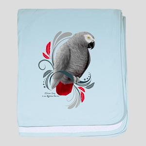 African Grey baby blanket