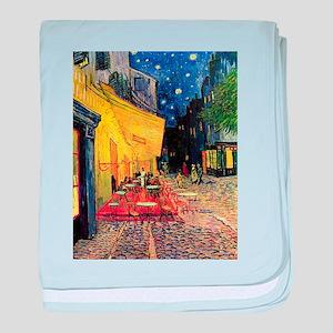 Van Gogh, Cafe Terrace at Night baby blanket