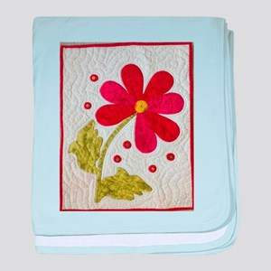 Give Yourself Flowers Today baby blanket