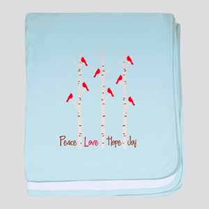 Peace Love Hope Day baby blanket
