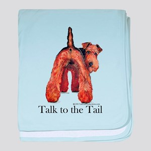 Airedale Terrier Talk baby blanket