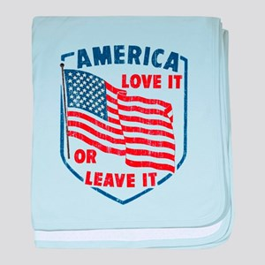 Faded America Love it baby blanket
