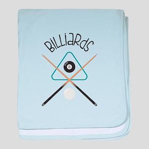 Billiards baby blanket