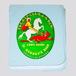 Ethiopia Beer Label 1 baby blanket