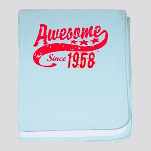 Awesome Since 1958 60 Years Old Birth baby blanket