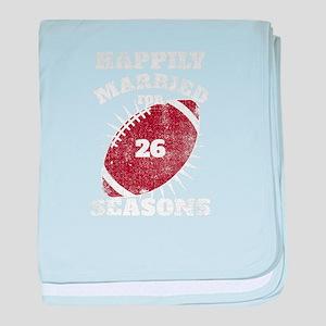 26th Anniversary Football Twenty Sixt baby blanket