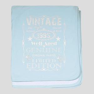 24th Birthday Gift design Vintage 199 baby blanket