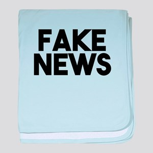 Fake News fashionable Post Truth baby blanket