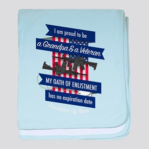 My Oath Has No expirtion date Veteran baby blanket