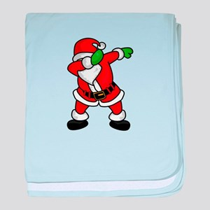 Santa Claus dab dance ugly christmas baby blanket