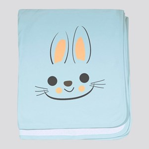 Easter Bunny Face Funny Pascha Holida baby blanket