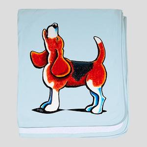 Tricolor Beagle Bay baby blanket