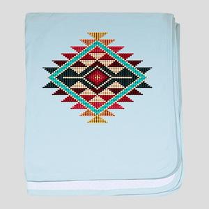 Native Style Rainbow Sunburst baby blanket