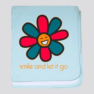 Smile and Let It Go baby blanket