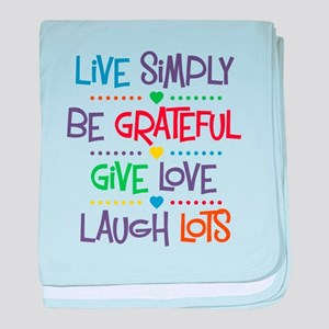 Live Simply Affirmations baby blanket