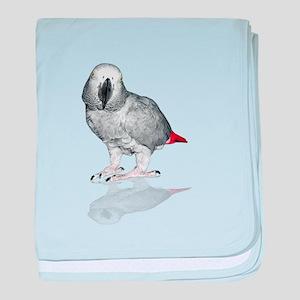 African Grey Parrot baby blanket