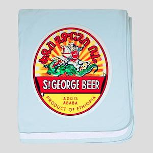 Ethiopia Beer Label 4 baby blanket