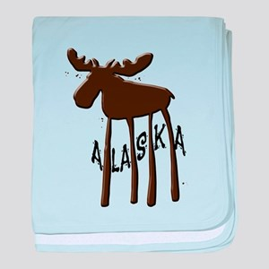 Alaska Moose baby blanket