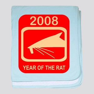 2008 Year Of The Rat baby blanket