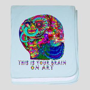 ART BRAIN baby blanket