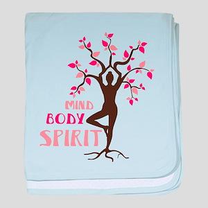 MIND BODY SPIRIT baby blanket