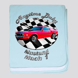 Ford Mustang Mach 1 baby blanket