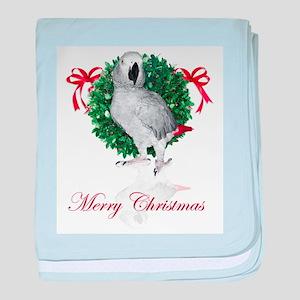 african grey christmas baby blanket