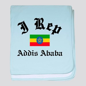 I rep Addis Ababa baby blanket