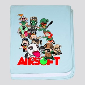 Airsoft Battle Royale baby blanket