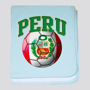 Flag of Peru Soccer Ball baby blanket