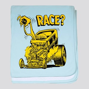 Race vintage hot rod custom car baby blanket