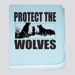 PROTECT THE WOLVES baby blanket