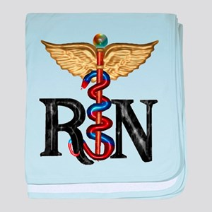 RN Caduceus baby blanket